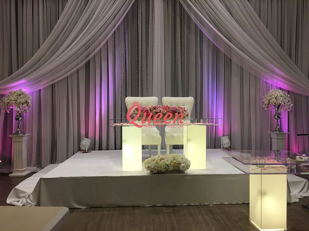 chair cover rental cost ergonomic montreal reception decor backdrop | queen wedding