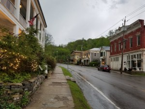Main Street in historic Sharon Springs NY.