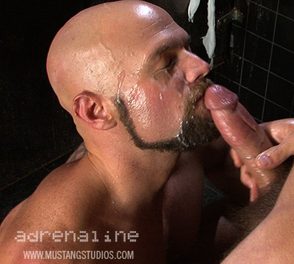 gay porn star Ridge Kane facial cumshot by Tommy DeFendi from Mustang Studios Adrenaline
