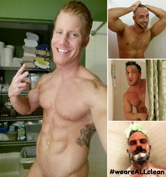 Gay Porn Stars HIV Shower Selfie Challenge