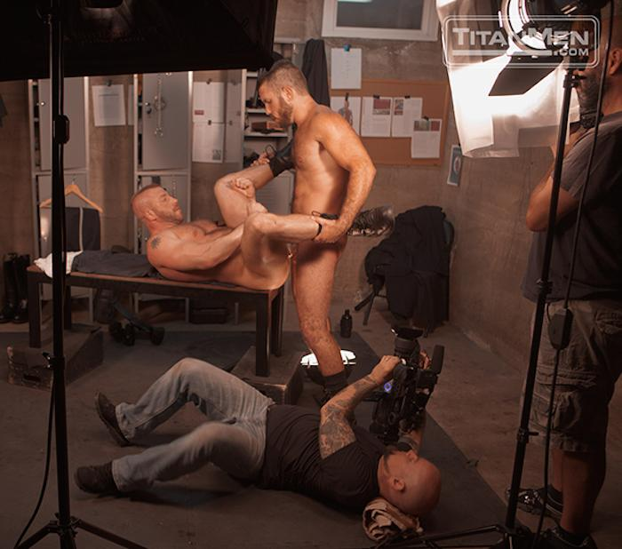 gay police make out video