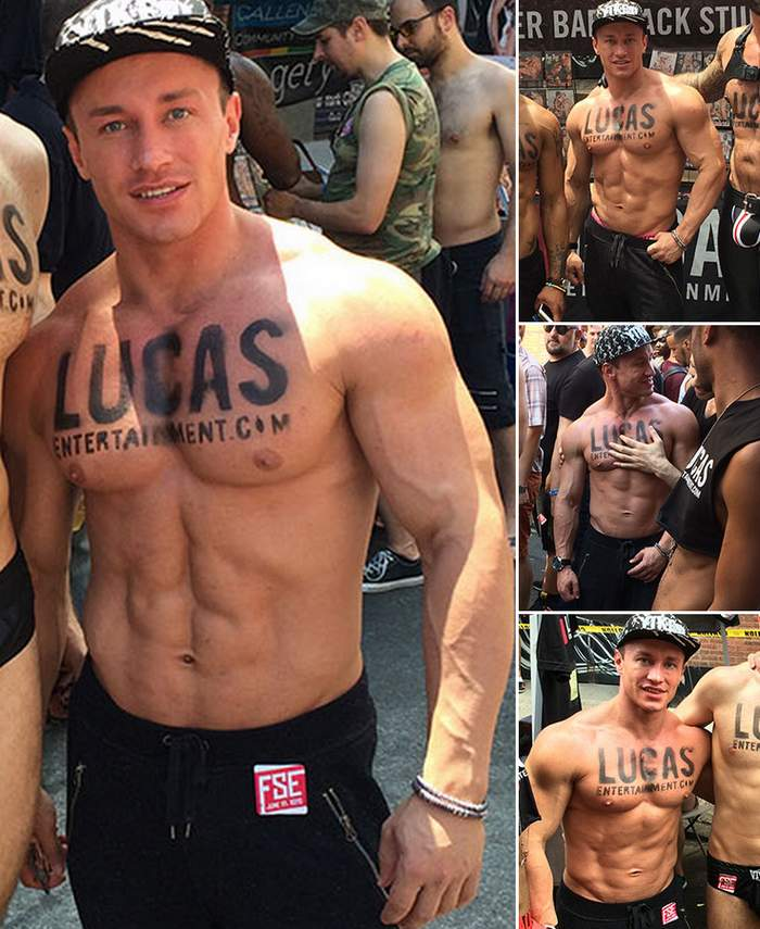 Muscle Hunk Gay Porn Model Lucas Entertainment
