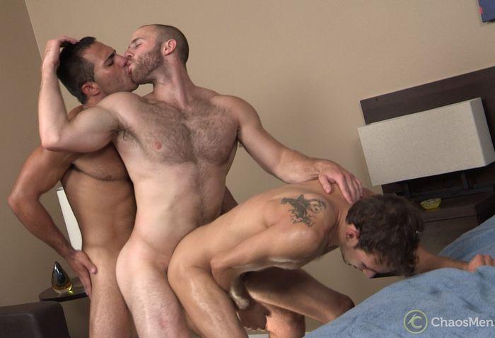 Atticus threesome gay porn