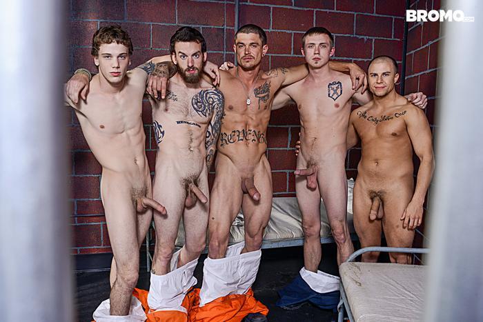 Gay Porn Prison Bareback Orgy 1