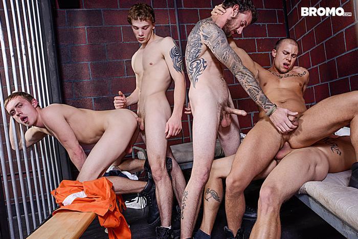 Gay Porn Prison Bareback Orgy 6