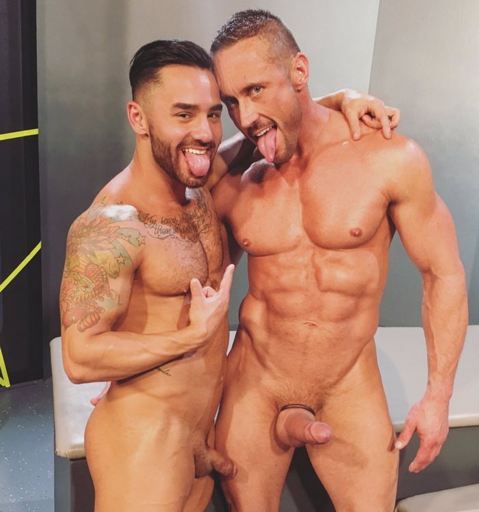 Bruno Bernal Myles Landon Gay Porn Star Muscle Hunk Naked