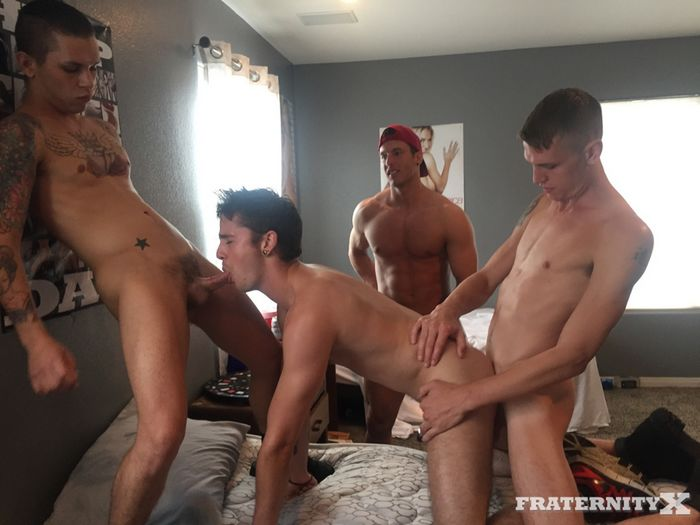 Rod Peterson Gay Porn Bareback Gang Bang Fratnity X LOADED HOLE 5