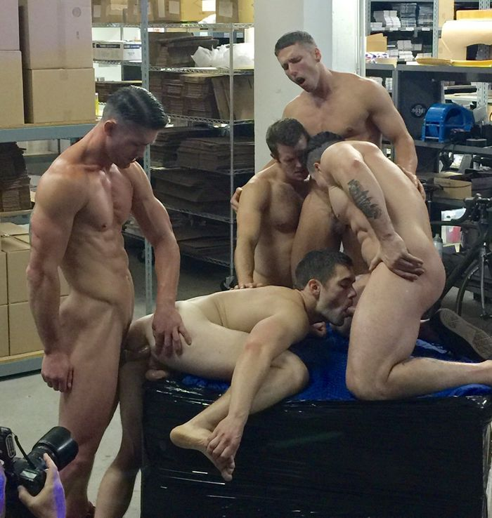 Gay orgy with ryan sitting on the futon 2