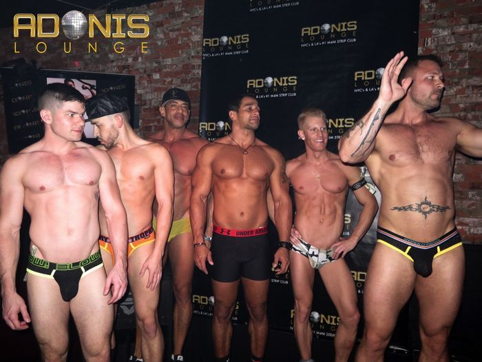 Hot Male Strippers and Gay Porn Stars at Adonis Lounge LA