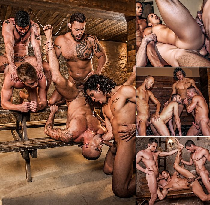 Seriously Hard Fucking Gay Porn Bareback Orgy
