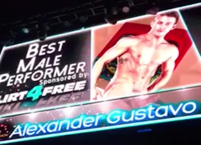 Alexander Gustavo Best Male Performer The Tranny Awards