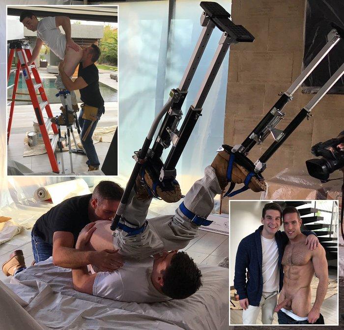 Gay Porn Stilts Alex Mecum Dustin Holloway Property Lovers Behind The Scenes