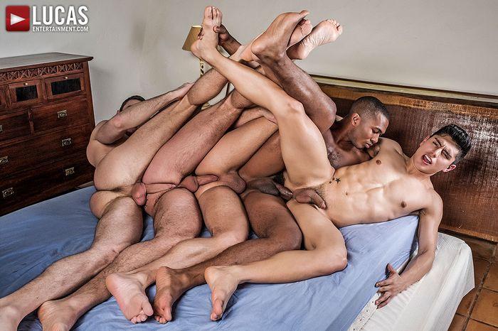 Gay porn bareback orgy