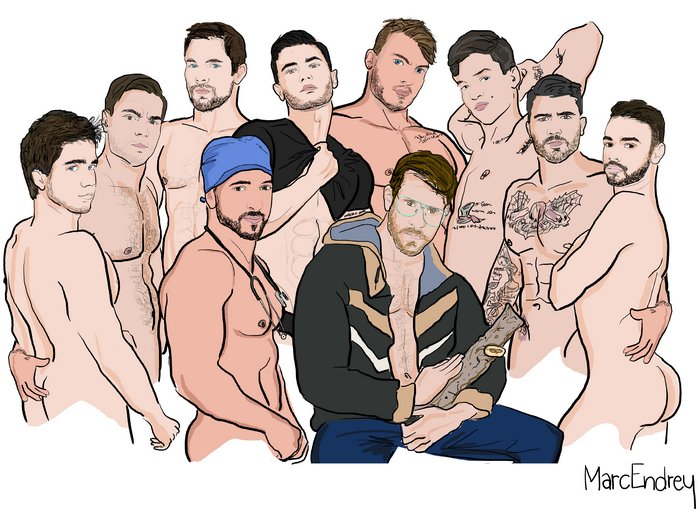 Gay Porn Stars Illustrator Marc Endrey