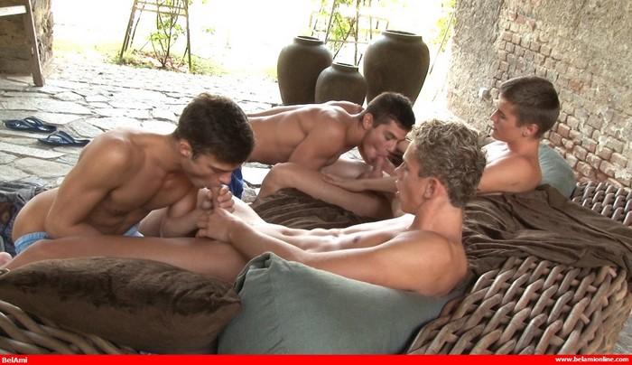 BelAmi Gay Porn Orgy Adam Archuleta Jerome Exupery Jean-Luc Bisset Jason Bacall