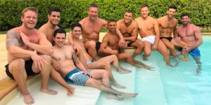 Gay Porn Stars Lucas Entertainment Shirtless Pool Side Interview