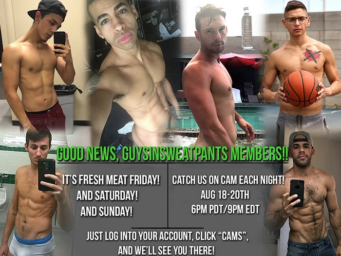 GuysInSweatpants Live Sex Shows Austin Wilde Jaime Steel Judas King Casey Jacks