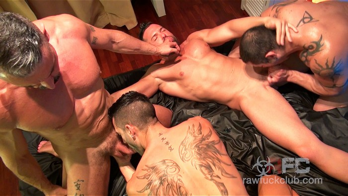 Gay Porn Orgy Andy Star Marc Ferrer Gabriel Lunna Julio Rey Raw Fuck Club