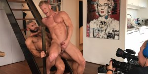 Francois Sagat JohnnyV Gay Porn Behind The Scenes XXX