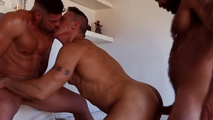 Rogan Richards Gay Porn Gabriel Lunna Marc Ferrer Bodybuilder Bareback Sex