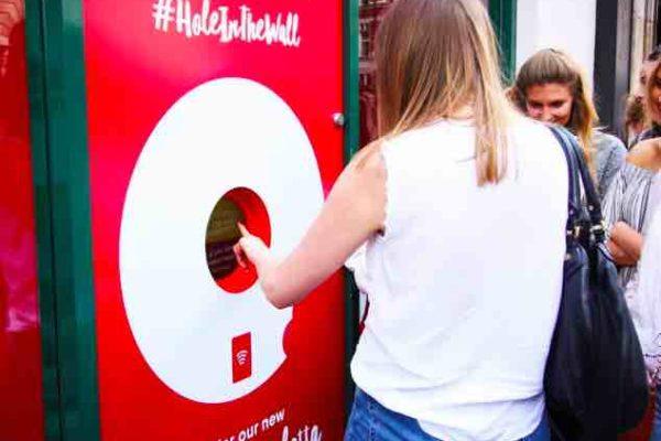 Le distributeur de donuts au Nutella à Holborn