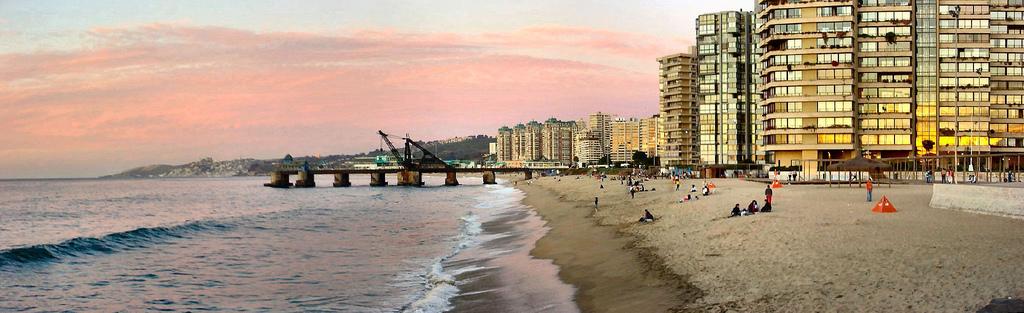 Acapulco en Viña del Mar, una de las playas más visitadas del país
