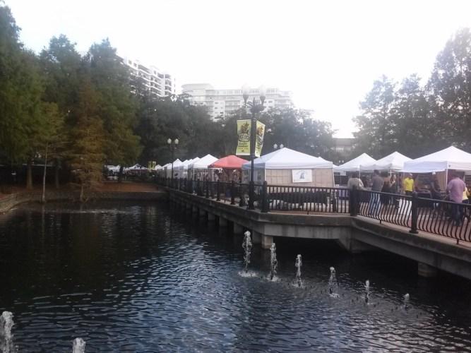 Eventos en Orlando artesanias en Lake Eola Park