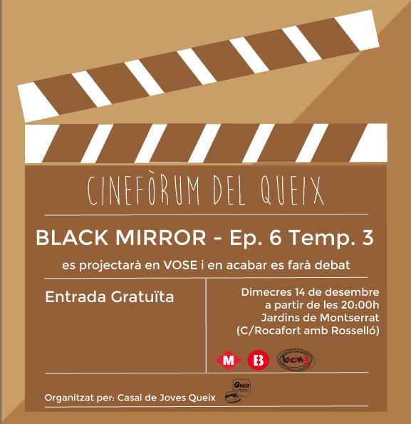 Cartell Cinefòrum Capítol 6 temporada 3 Black Mirror