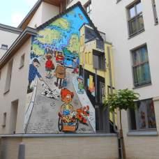 Peinture murale Boule & Bill (rue du chevreuil)