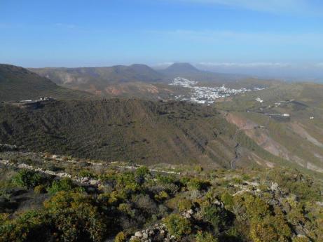 Vue du mirador de los Helechos (sur Haria)
