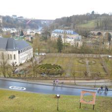 Vue des casemates du Bock (Luxembourg)