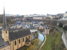 Vue des casemates sur le Grund (Luxembourg)