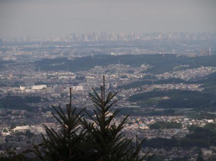 Vue du Mont Takao (chemin n°1) sur Tokyo