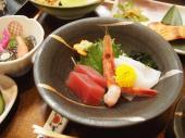 Dîner japonais - sashimi de thon (Takayama)