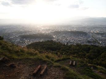 Vue sur Kyoto du mont Daimonji Yama