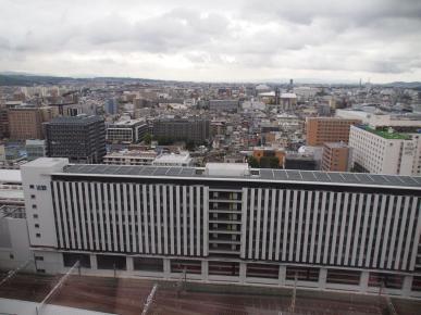 Vue du 12ème étage de la gare de Kyoto