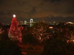 Illuminations devant le rainbow bridge (Quartier d'Odaiba / Tokyo)