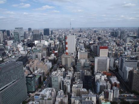 Vue du 47ème étage de la tour Dentsu (Tokyo)