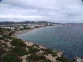 Vue de la Tour de Sa Rossa sur Eivissa (depuis le parc naturel de Ses Salines - Ibiza)