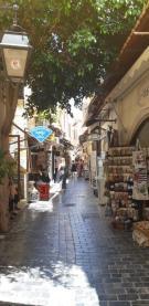 Dans les ruelles de Réthymnon (Crète)