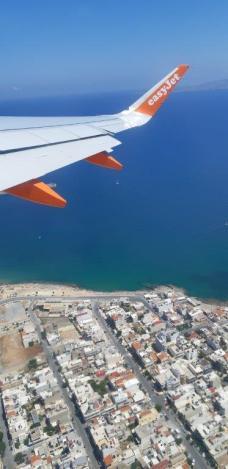 Au dessus de la côte nord crétoise (retour de Crète)
