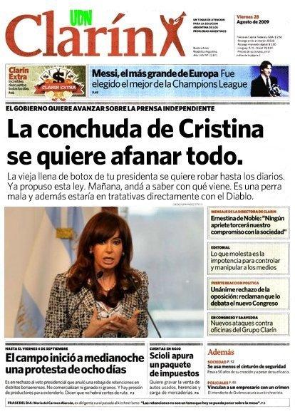 Cristina se quiere afanar todo - Tapas de Clarin