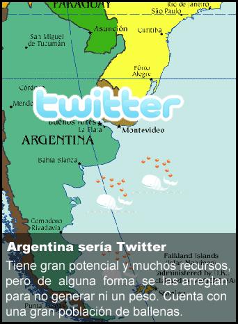 Argentina es como Twitter