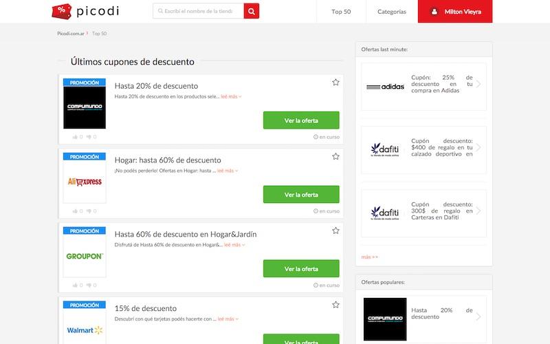 Descuentos y promociones con Picodi