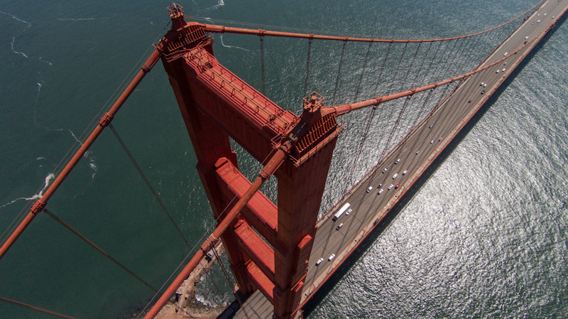 Golden Gate Bridge, San Francisco, Drones