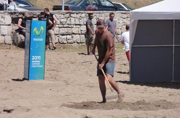 Jim Denevan en Mar del Plata - Movistar Summer Experience 2011