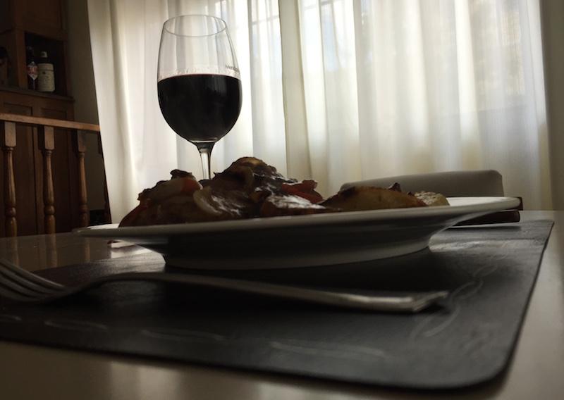 Lomo al horno con vino con las bolsas de knorr