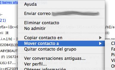 Mover contactos
