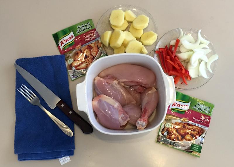 Cómo hacer un pollo al horno con las bolsas de Knorr