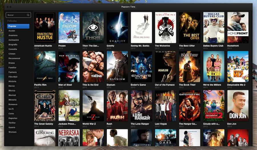 Popcorn Time: El Netflix de los estrenos